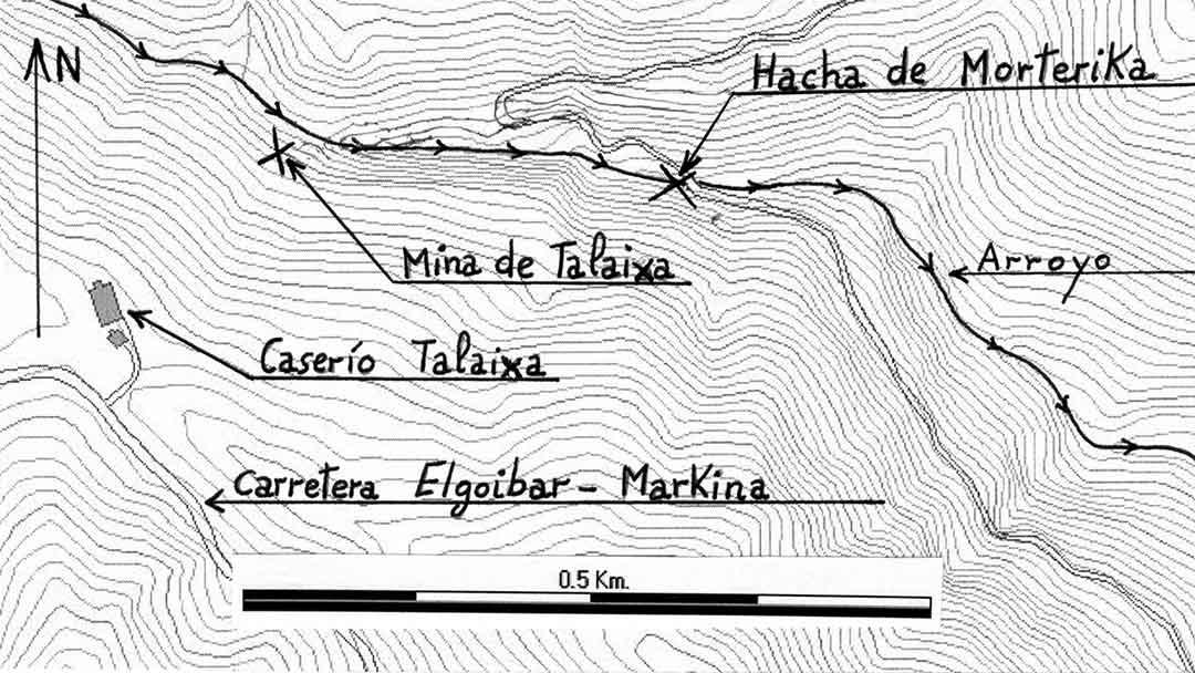 la protohistoria de Elgoibar, plano