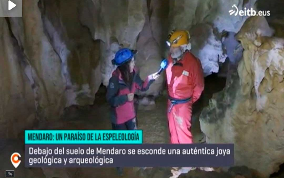 Cuevas subterráneas en Mendaro: reportaje de la ETB2